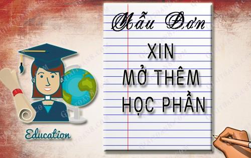 mau don xin mo them hoc phan