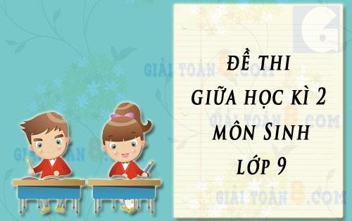 de thi giua hoc ki 2 mon sinh hoc lop 9