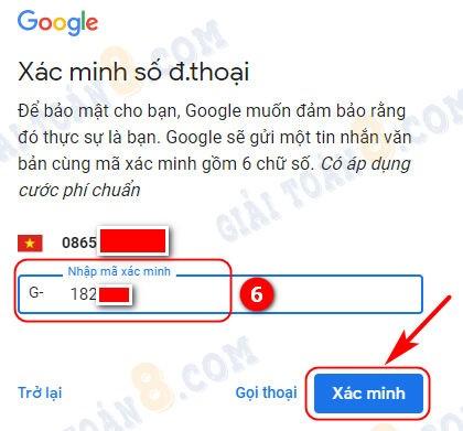tao gmail tren dien thoai