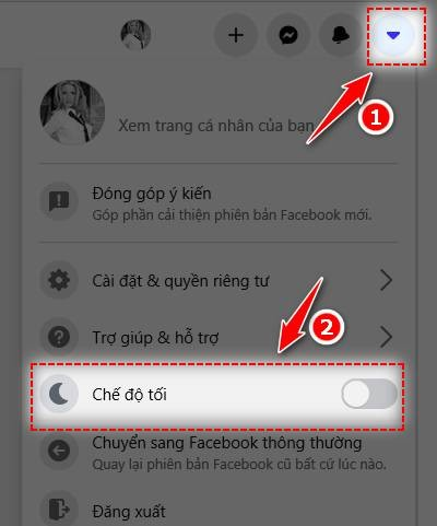 cach bat che do toi tren facebook may tinh